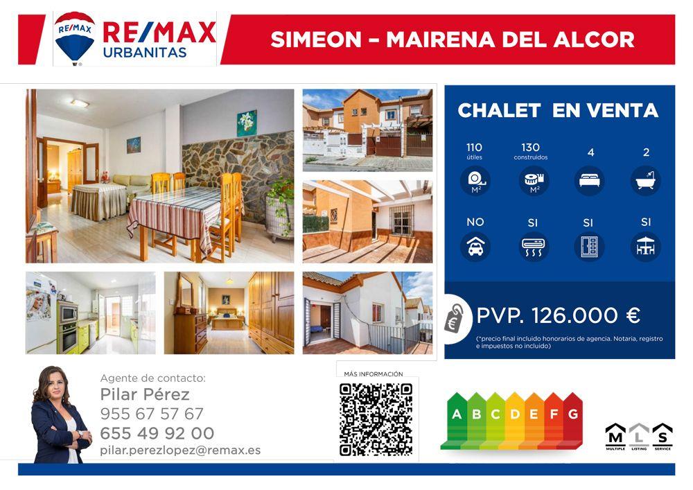 130 M² Adosado Venta, 4 Habitaciones located at Mairena