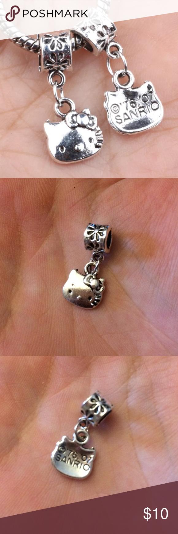 New hello kitty dangle charm new hello kitty charm bead made