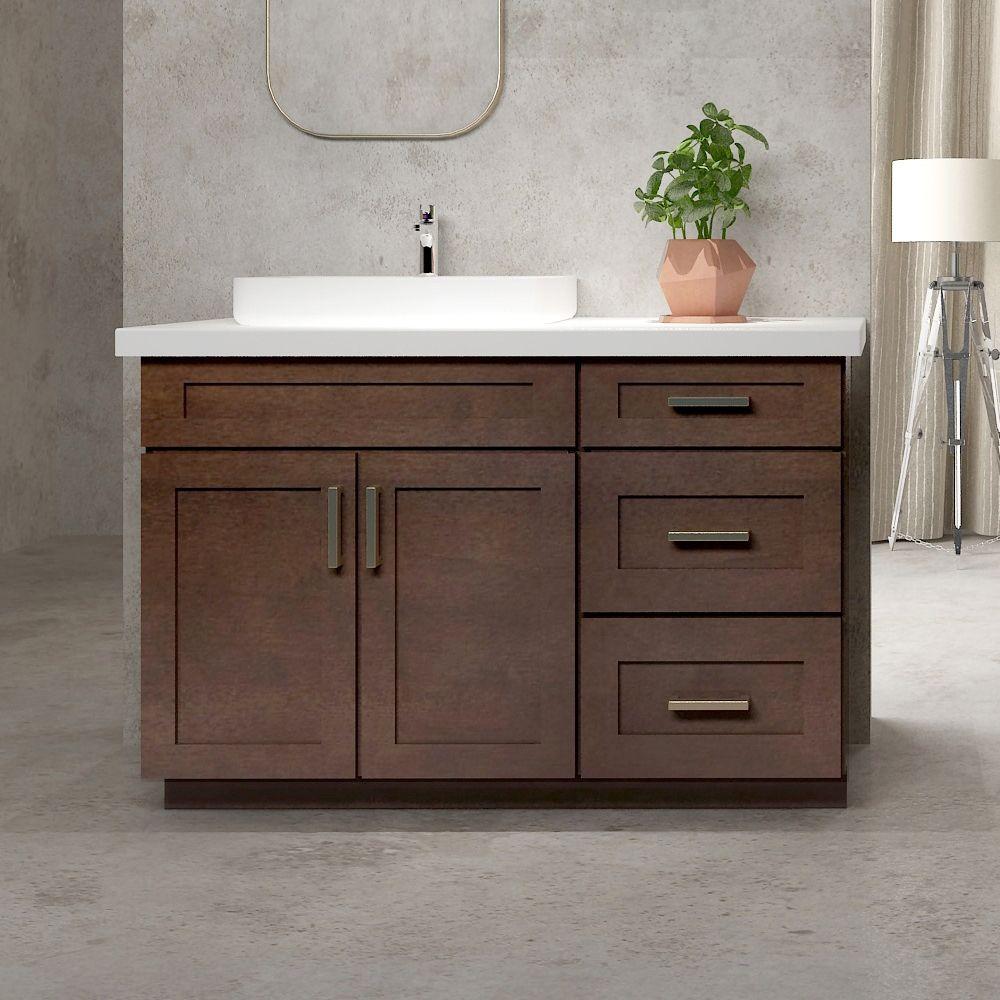 Shop Cowry Vac Ep4 Shaker Style Bathroom Vanity Set with 18 In