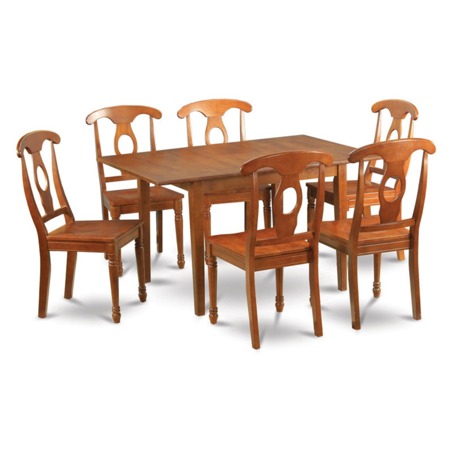 East west furniture milan piece rectangular dining table set with