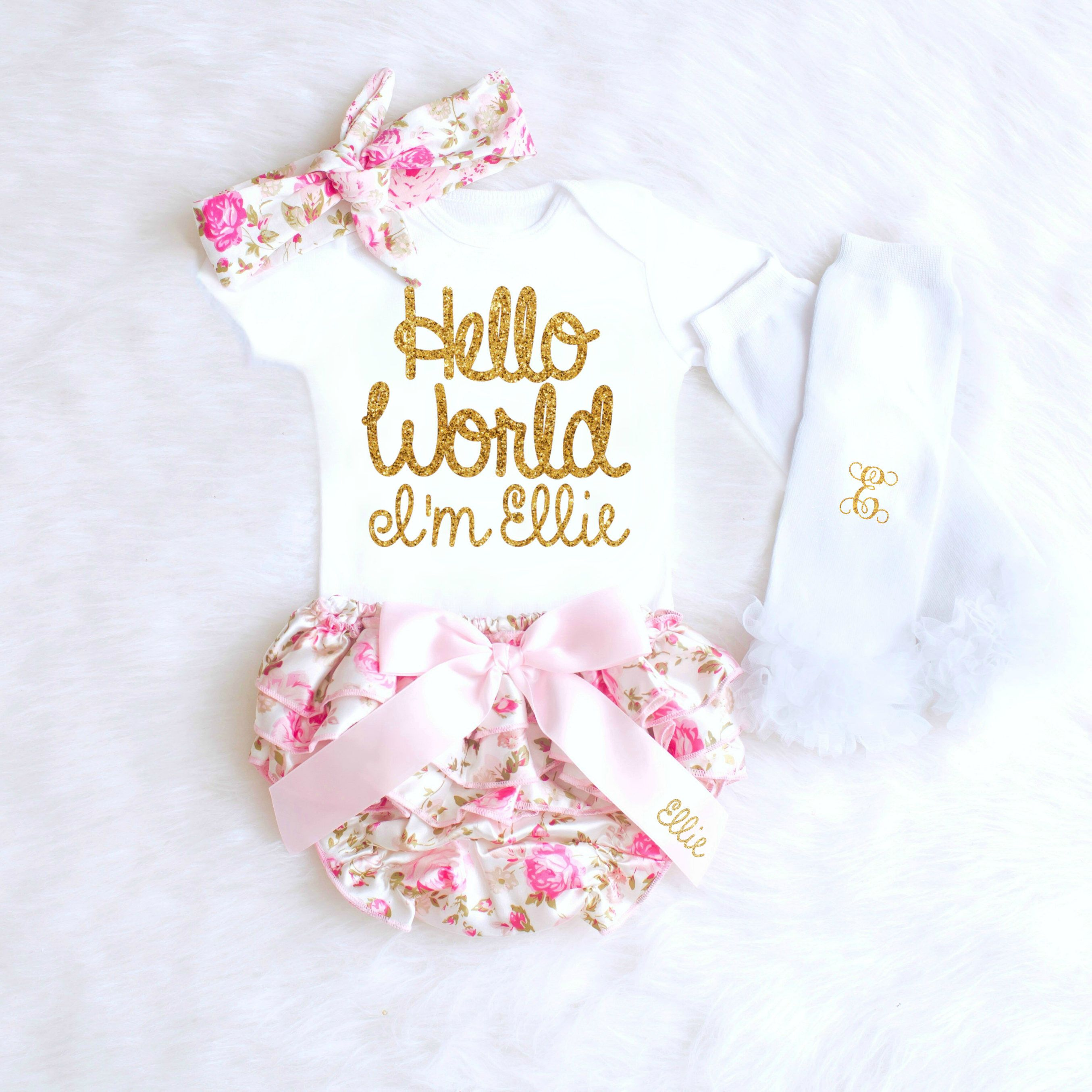 ede3226e0761 Baby Girl Coming Home Outfit