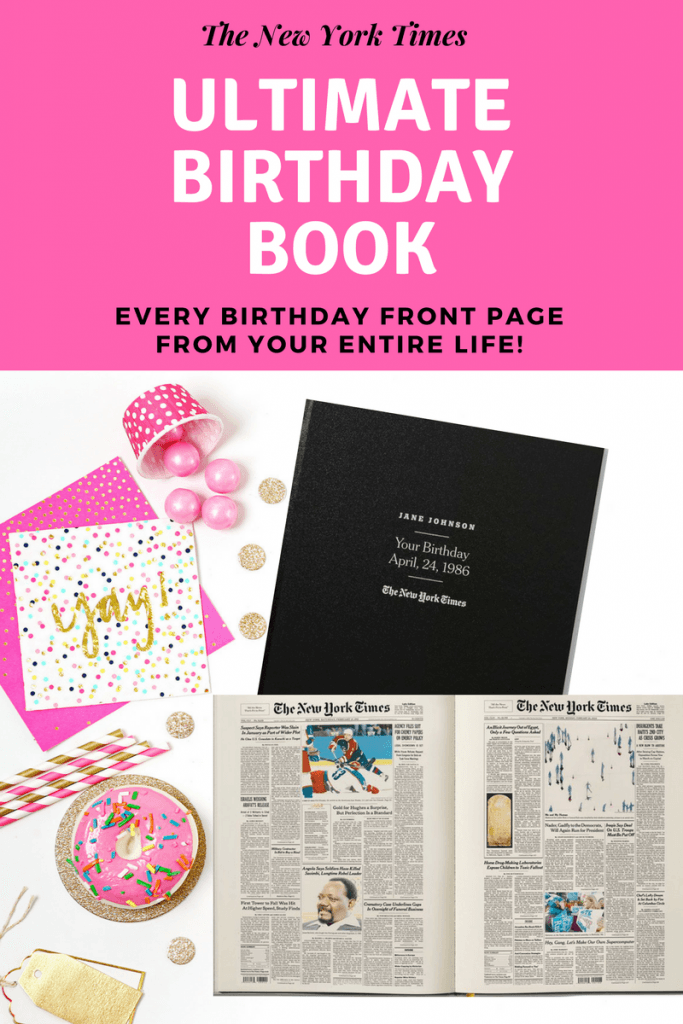Memorable Gift Features Every Birthday Front Page From Their Entire Lifeperfect For The Man Or Woman Who Has Everything