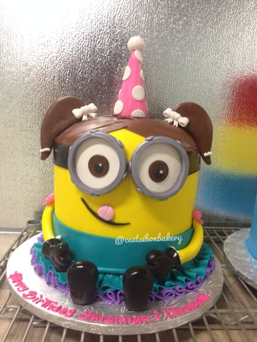 Girly Minion Birthday Cake The Girl Is Almost Cuter Than The Boy