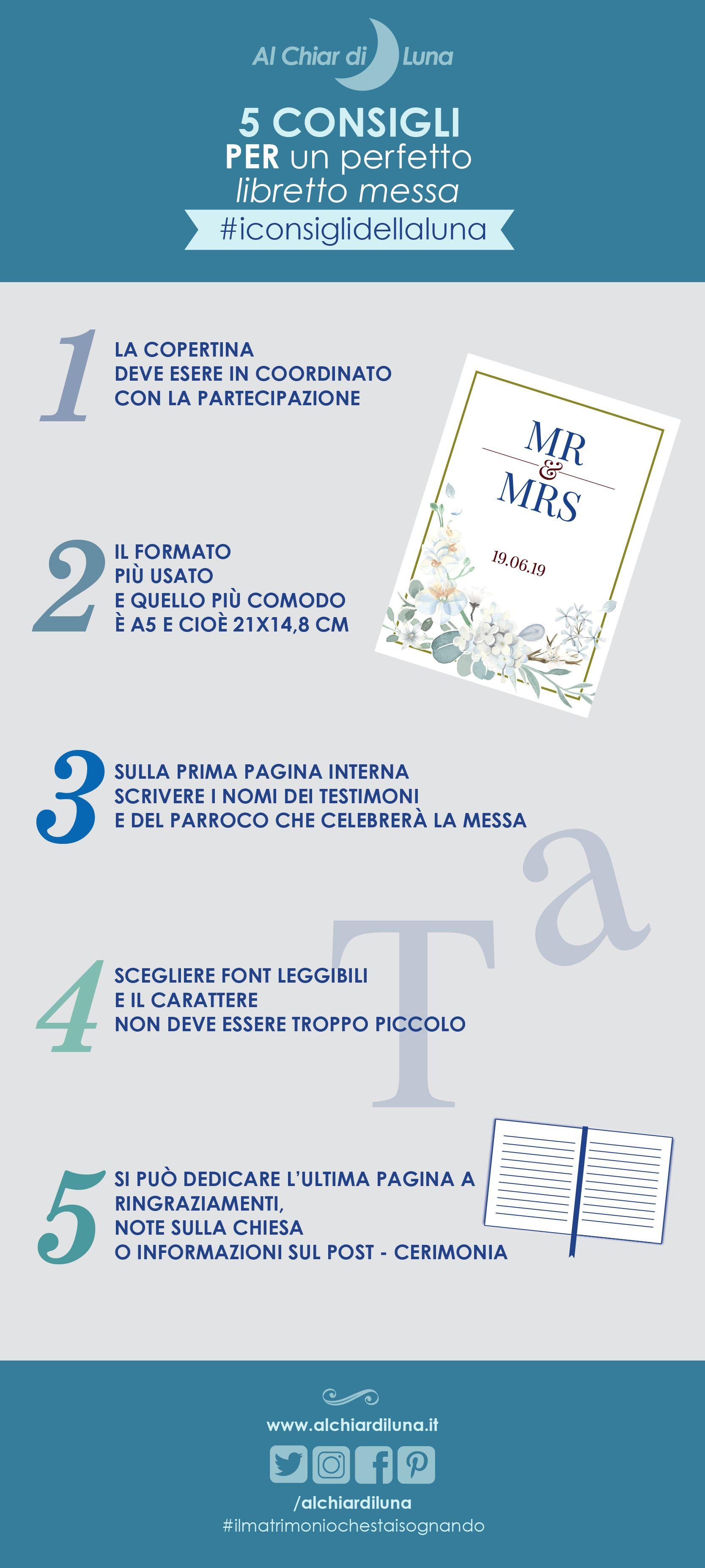 Iconsiglidellaluna 5 Consigli Per Un Perfetto Libretto Messa Alchiardiluna Ilmatrimoniochesta Matrimonio Pianificazione Matrimoni Matrimoni A Tema Musica
