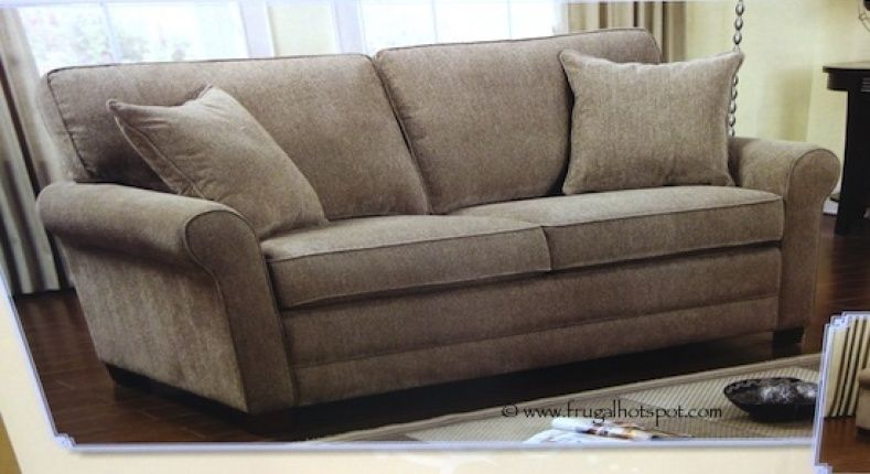 Short On E But Have Frequent Overnight Guests Costco Has The Chenille Fabric Sofa With Queen Sleeper In Stock For A Limited Time