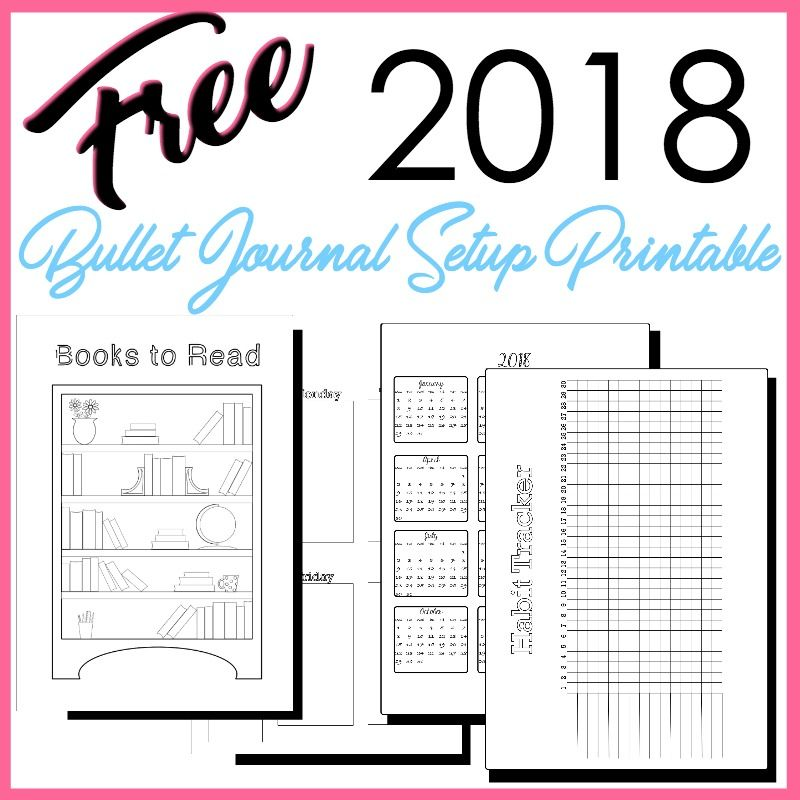 free bullet journal printables 2018 pdf