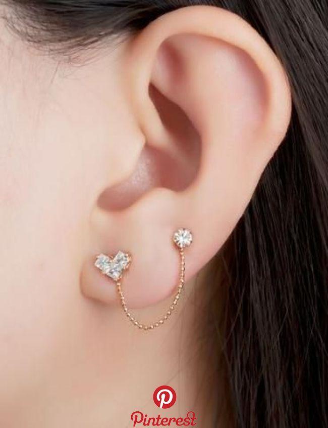 50+ Cute Ear Piercing Ideas at #secondearpiercing