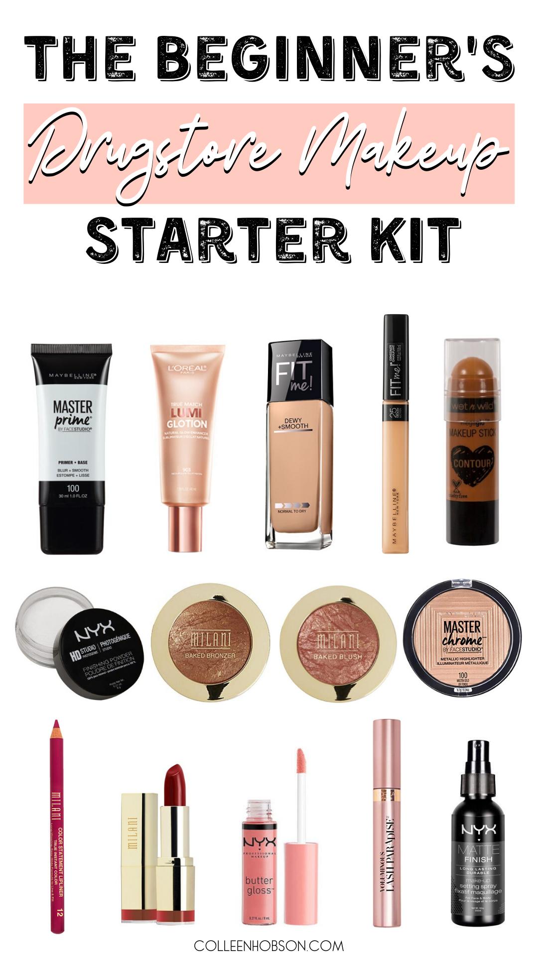 Drugstore Makeup Starter Kit For Beginners - Colleen Hobson - Makeup For Beginners