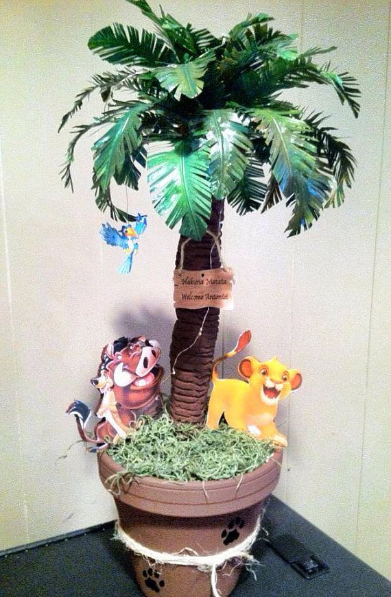 The lion king centerpieces baby shower decoration by