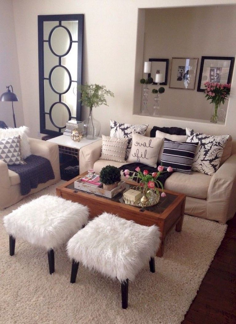 85 Beautiful Rental Apartment Decorating Ideas On A Budget Living Room Decor Apartment Apartment Living Room Rooms Home Decor