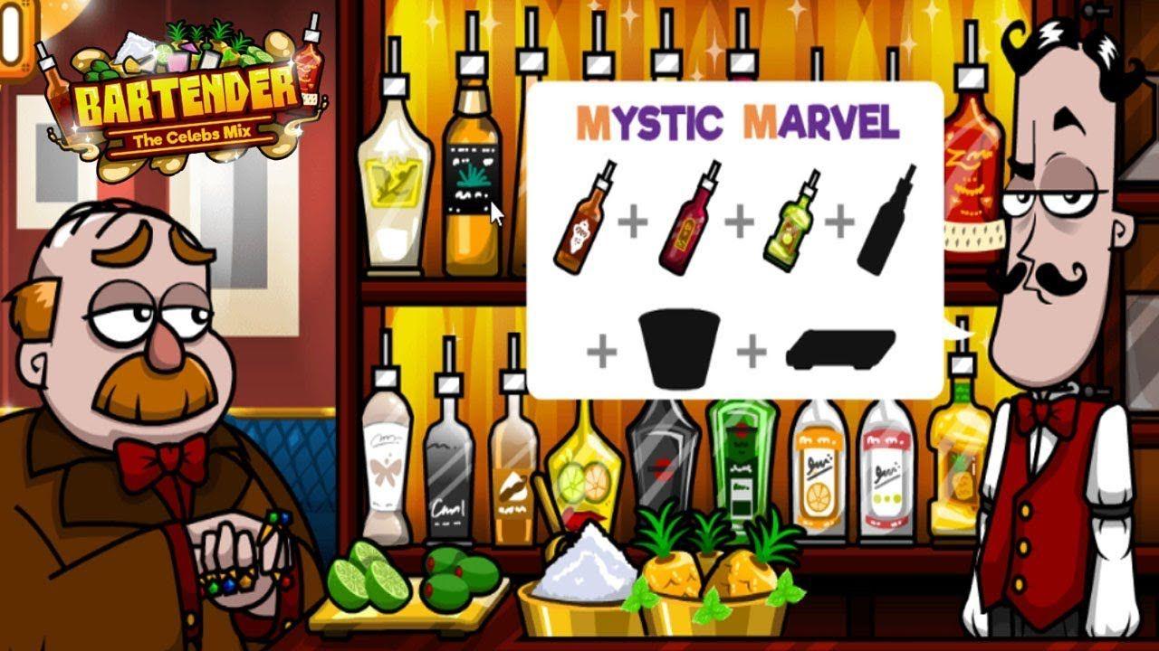 Y8 Games Bartender The Celebs Mix Mystic Marvel Gameplay Bartender Game Bartender Marvel
