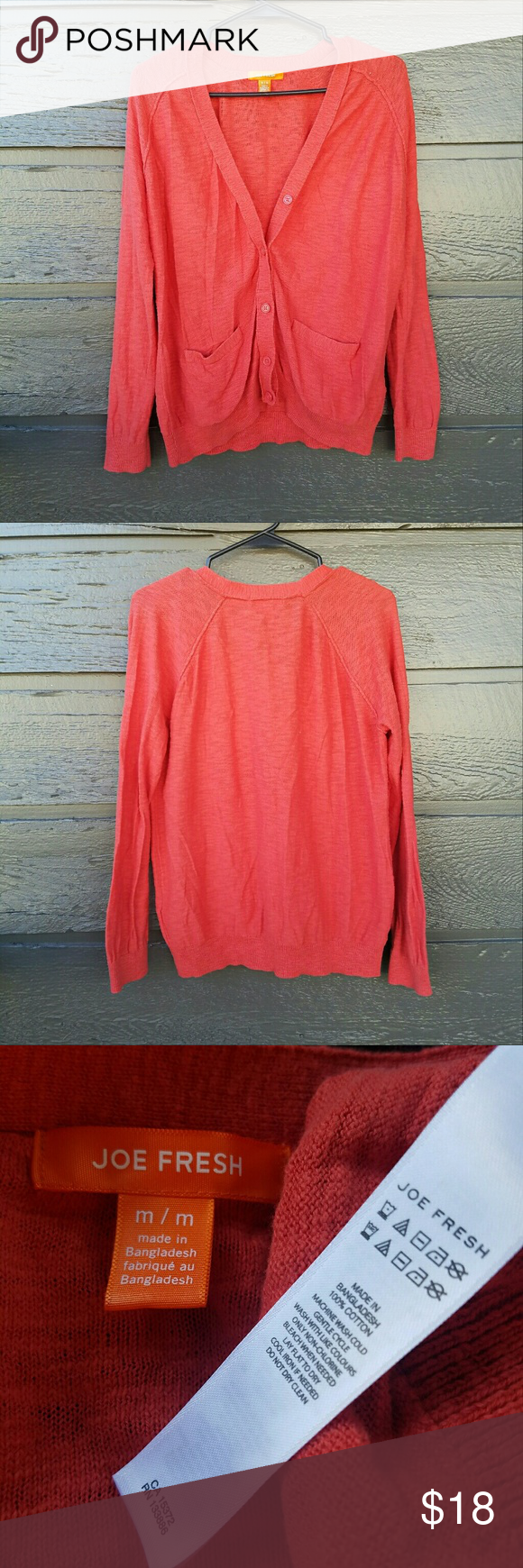 Joe Fresh Red Orange Cardigan Everyone needs a bringgt cardigan in ...