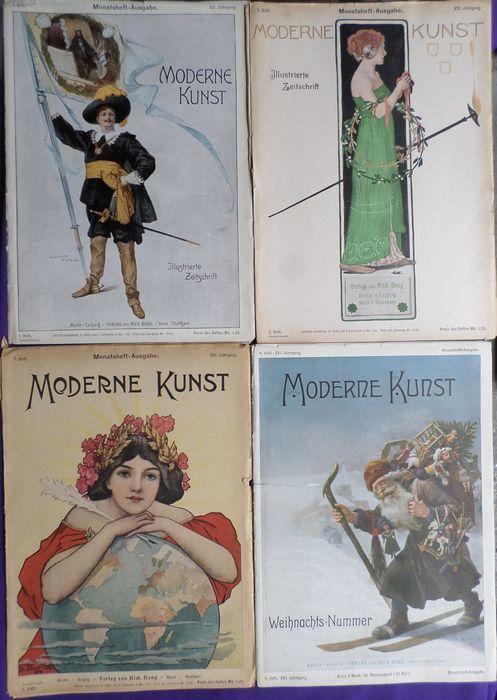 Jugendstil; Lot met 4 nummers Moderne kunst Illustrierte Zeitschrift Monatsheft-Ausgabe - XVI jaargang - 1901