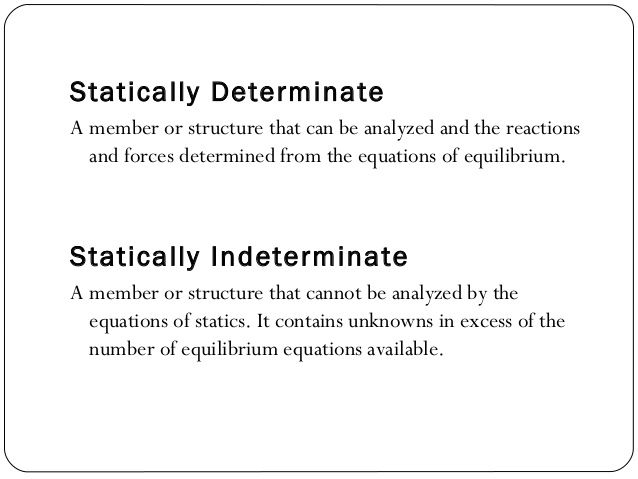 Good Image Result For Statically Determinate And Indeterminate