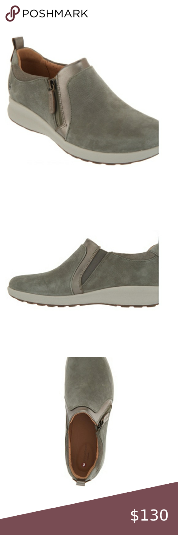 New Clarks Unstructured Side Zip Slip On Shoes Slip On Shoes On Shoes Clarks
