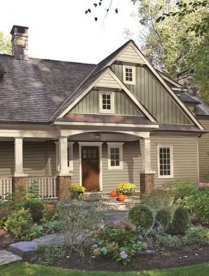 Exterior House Colors Tan Green 43 New Ideas #exteriorhousecolors