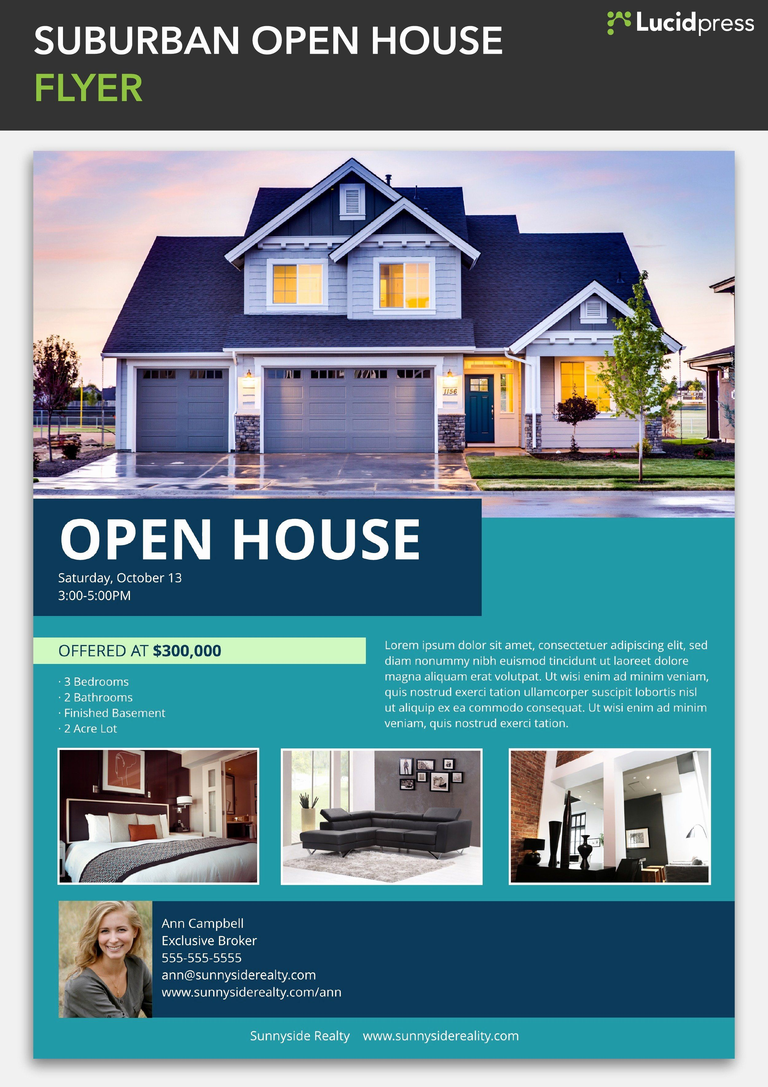 Open House Flyers Template Awesome How To Build A Social Media Campaign For Real Estate Open House Real Estate Open House Open House Brochure