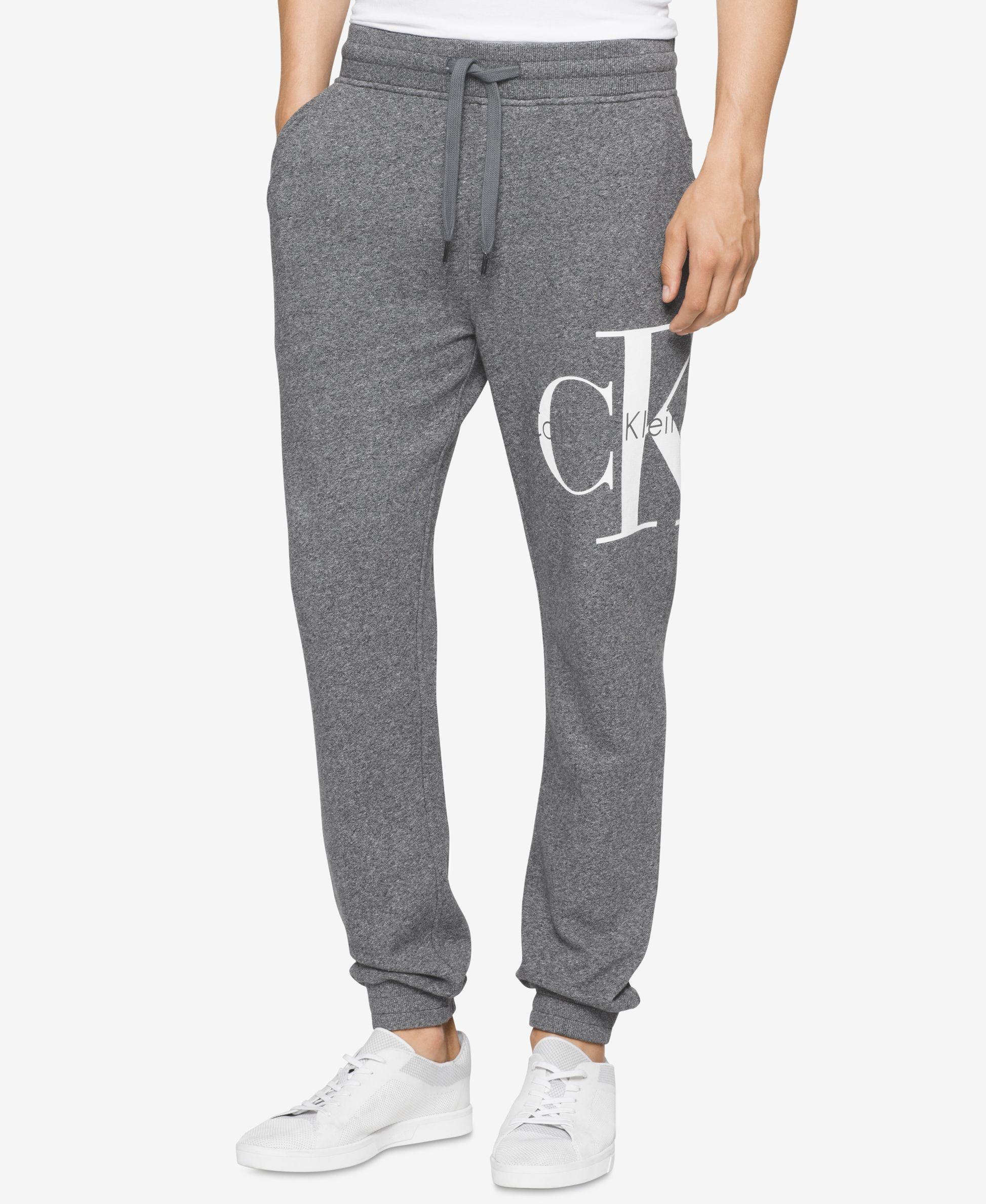 bfffbff108eb Calvin Klein Jeans Men s Reissue Graphic-Print Logo Joggers