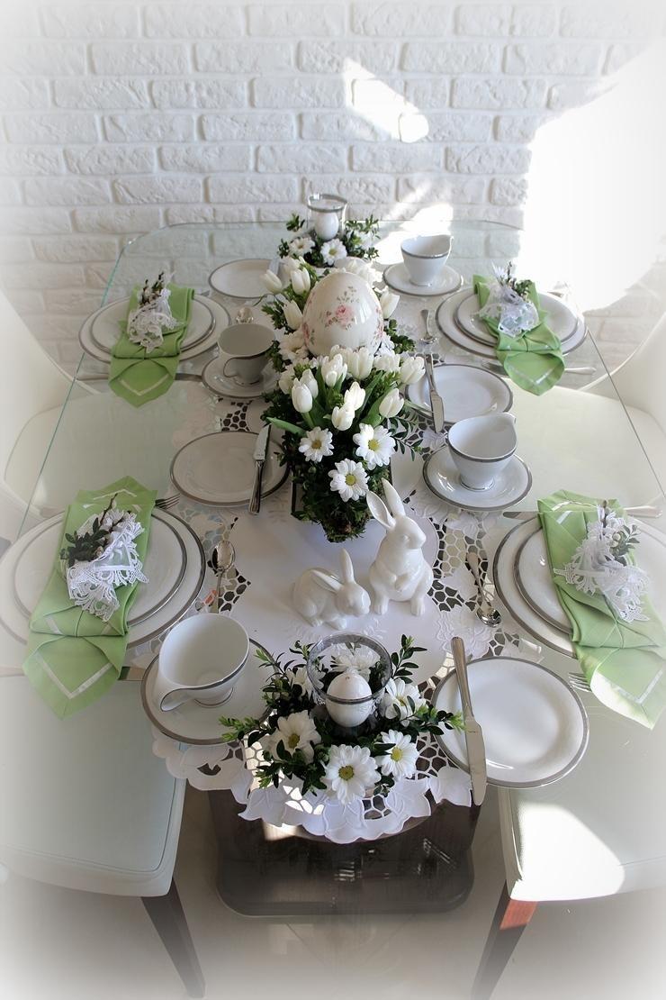 Dekoracja Stolu Wielkanocnego Salon Easter Table Floral Wreath Table Decorations