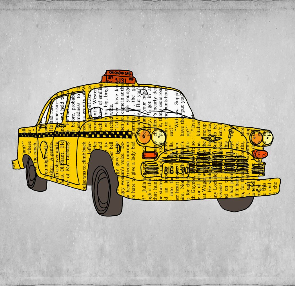 New york city, Yellow taxi, New york taxi, Vintage poster, Yellow ...
