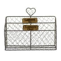 Brown Wire Letter Rack Dunelm