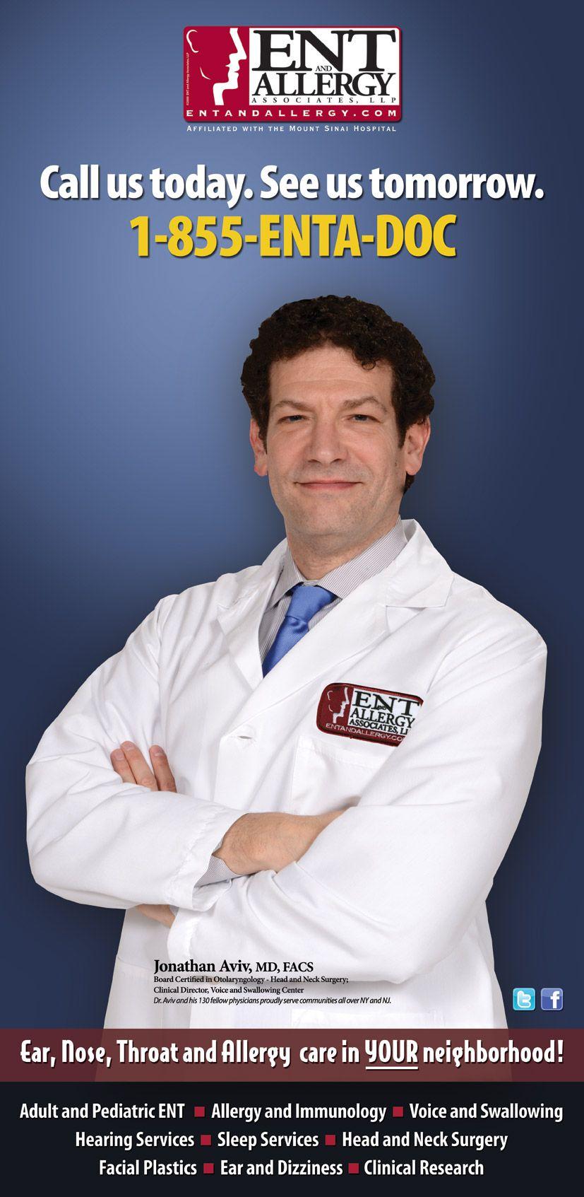 Dr. Jonathan Aviv (ENTA EAST SIDE OFFICE) #Voiceandswallowingdoctor #ENTNYC #ENTANDALLERGYASSOCIATES