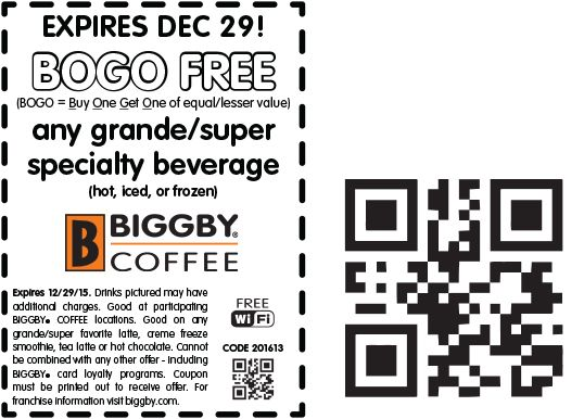 Share Coupons For Biggby Coffee