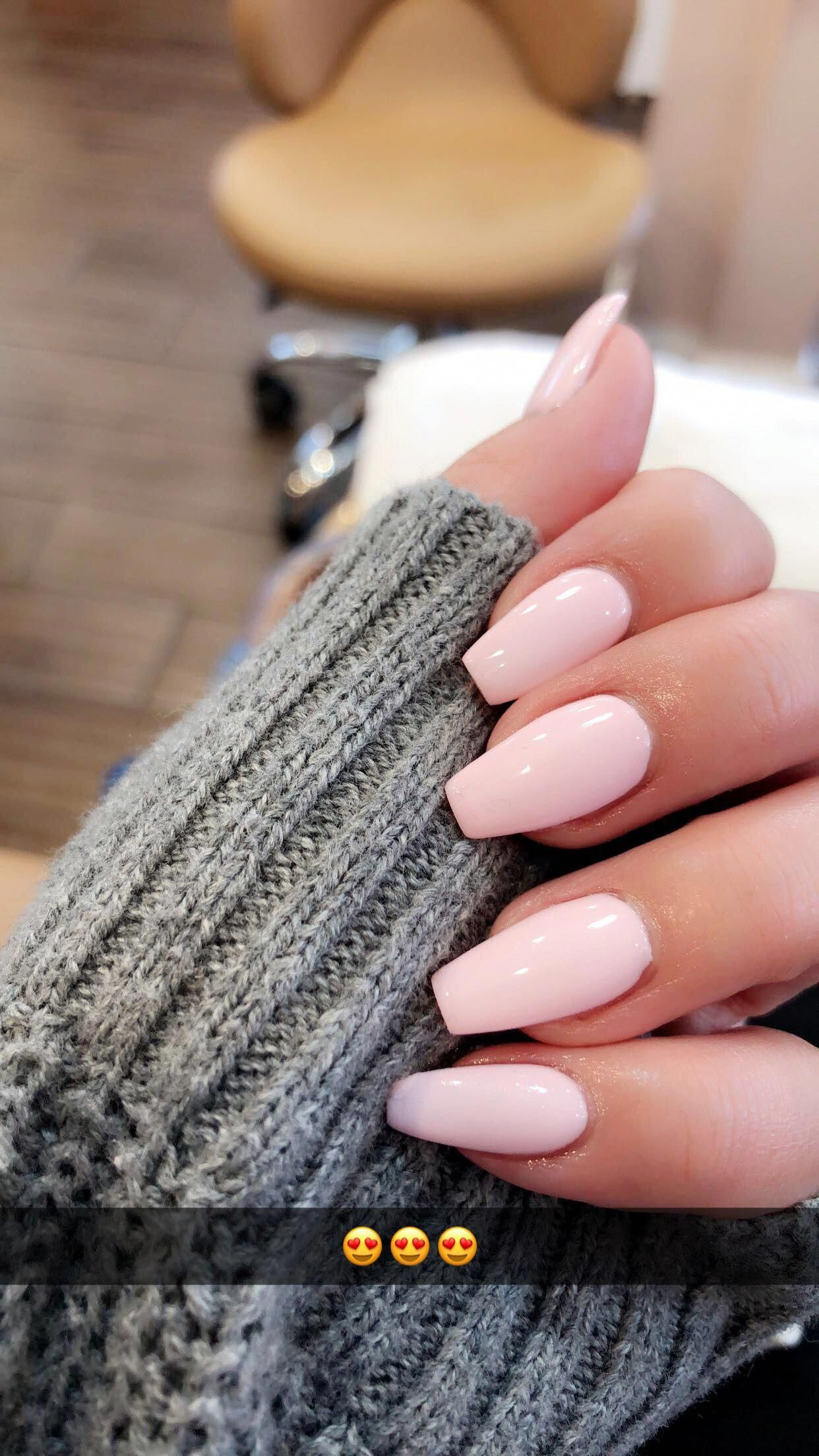 Acrylic Coffin Pink Nails Acrylicnails Pink Nails Acrylic Nails Acrylic Nail Designs
