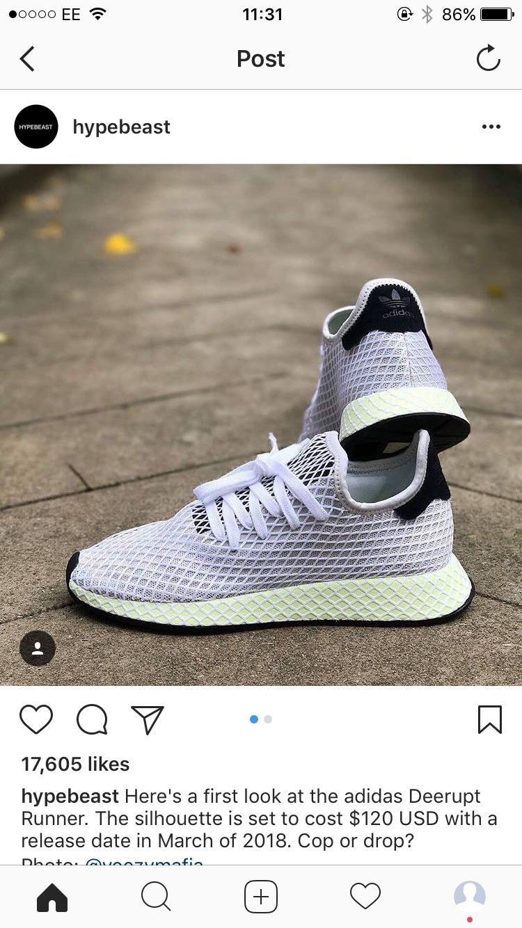 The new Adidas Deerupt Runner-Cop or drop?