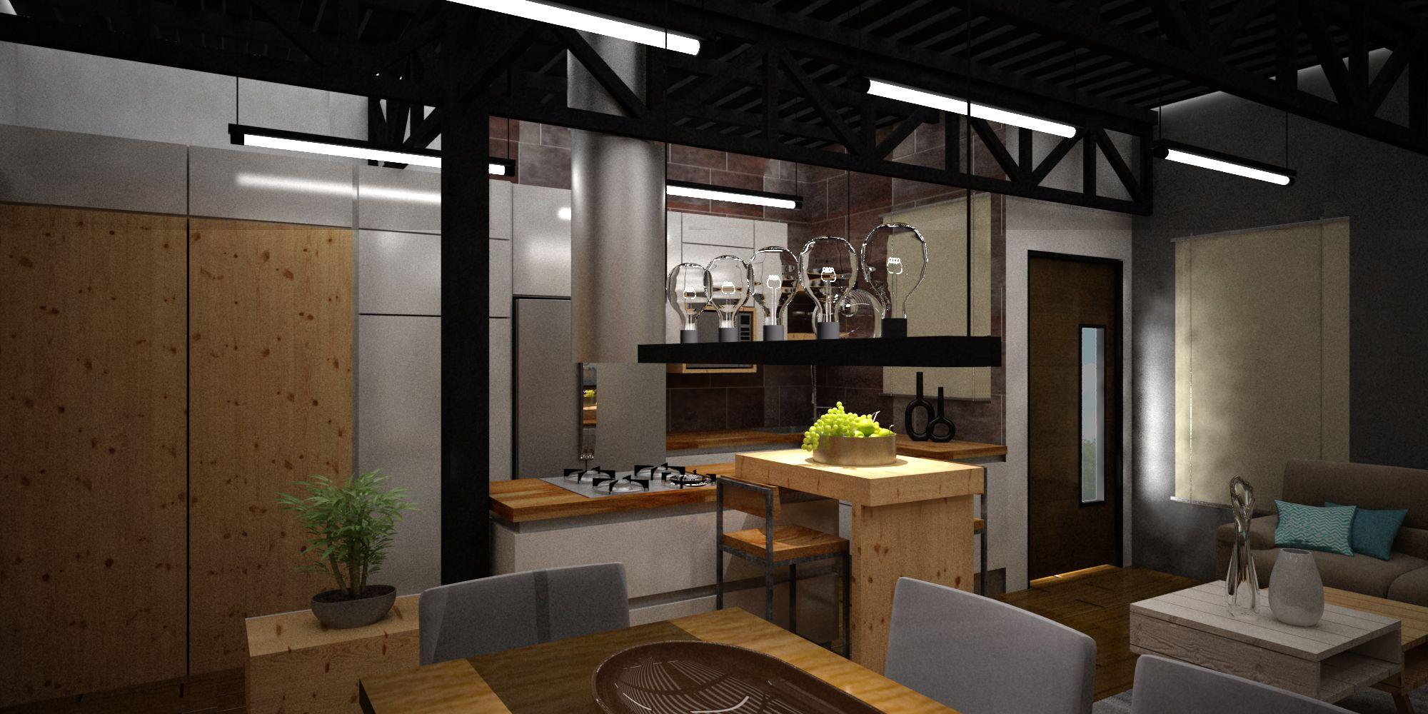 diseÑo interior sala--comedor-cocina | diseÑo interior jorge y