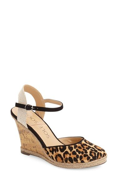 a6539ca5176 Sole Society  Lucy  Wedge Sandal (Women) at Nordstrom.com. Espadrille trim  highlights the earthy cork-like wedge of a go-to ankle strap sandal.