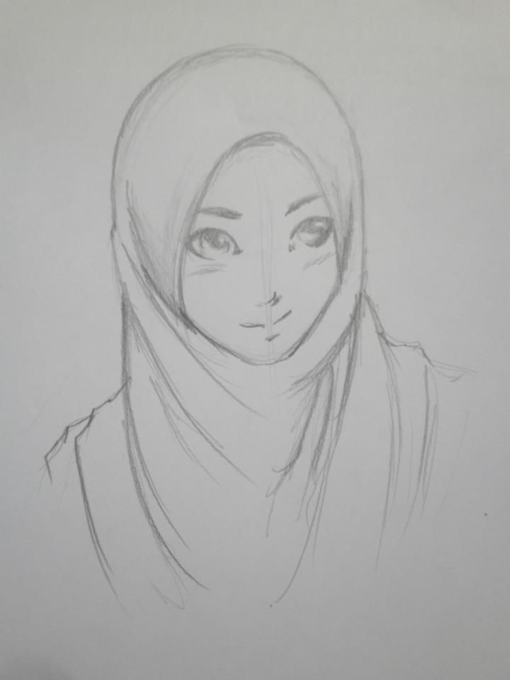 Best Pencil Sketch Anime Picture Of Hijab