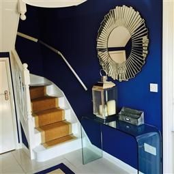 Colours drawing room blue farrow ball blanc bleu gris pinterest drawing rooms - Bleu farrow and ball ...