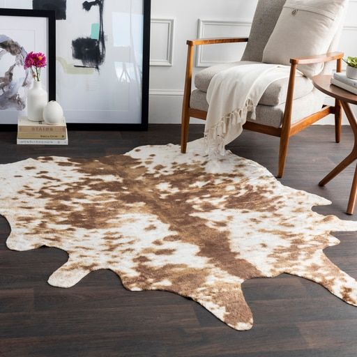 """Images Animal Hide Accent Chairs Wall Street Journal: Rusak RUA-1003 5' X 6'6"""" Rectangle Area Rug"""