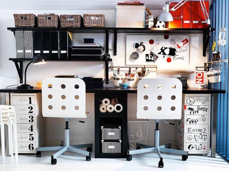 Bureau noir pas cher awesome ikea console extensible bureau