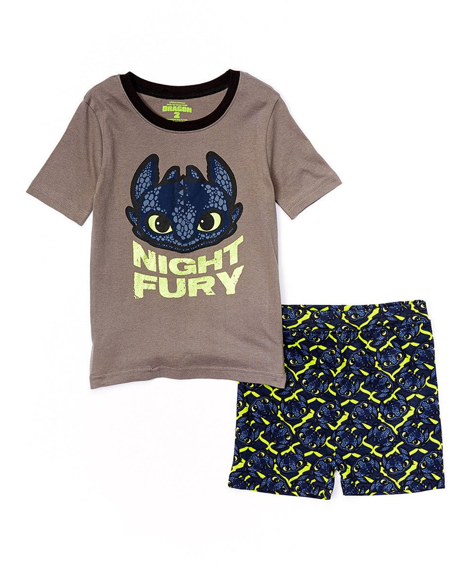 Look what I found on #zulily! Dragon's Night Fury Short Set - Boys by How to Train Your Dragon #zulilyfinds
