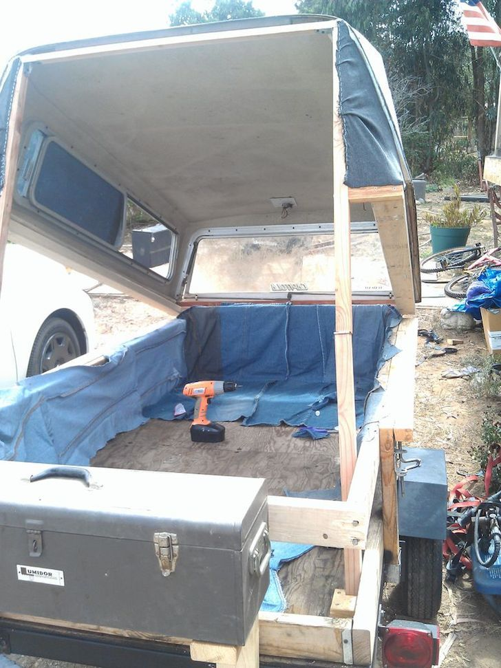 Homemade Pop Up Tent Camper Made From Recycled Items Camper