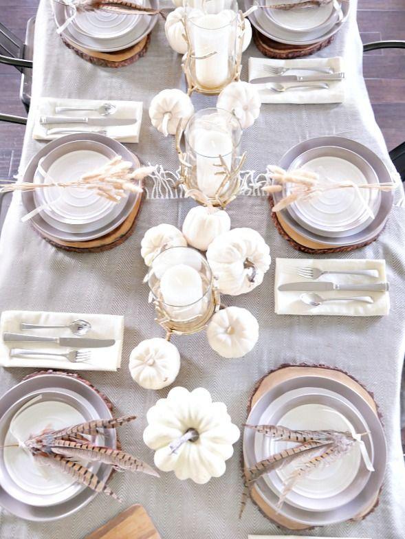 Simply Elegant Fall Table Setting | Fall table, Elegant and Fall ...