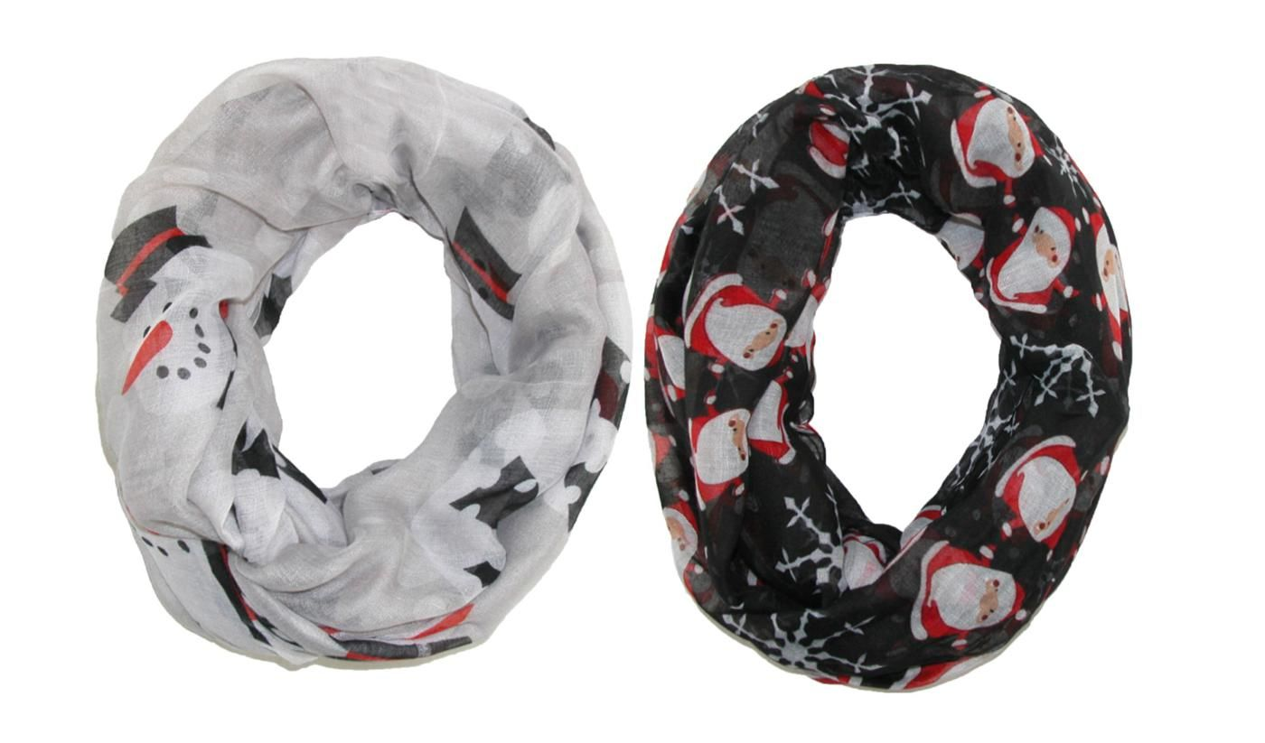 Celebrate the holiday season with these adorable Christmas infinity loop scarves. Both patterns can be paired with a casual or dressy outfit when going out for the holidays. They are both lightweight and will fit comfortably around your neck for any occasion.