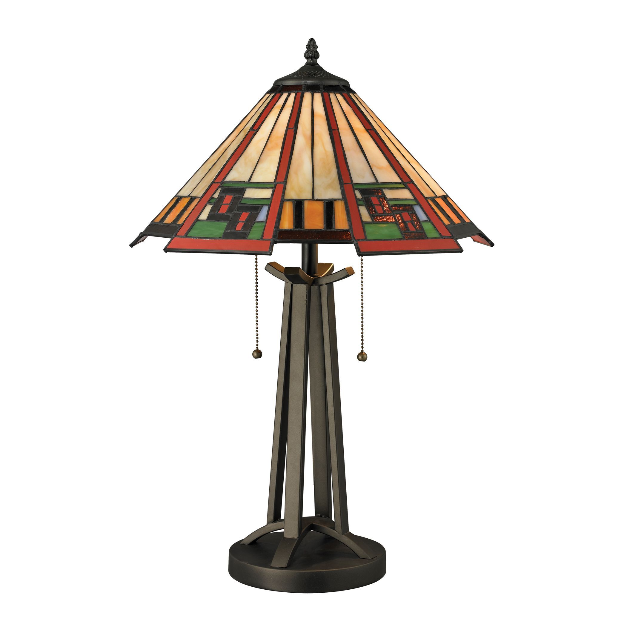 Dimond Lighting 2-Light Tiffany Style Table Lamp