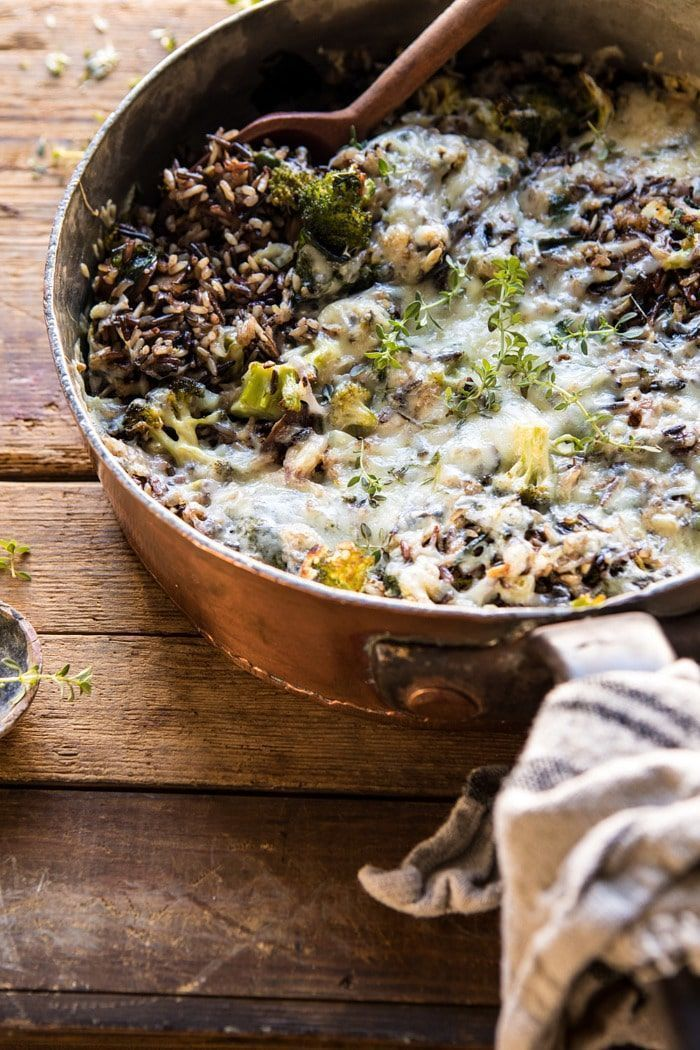 Broccoli Cheese Wild Rice Casserole -  One Pan Broccoli Cheese Wild Rice Casserole |  - : Broccoli