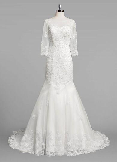 e7f0ed9f74f AZAZIE DOROTHY BG. Dress Dorothy BG by Azazie is a simple tulle bridal gown  featuring a scoop neckline on a court train trumpet mermaid skirt.