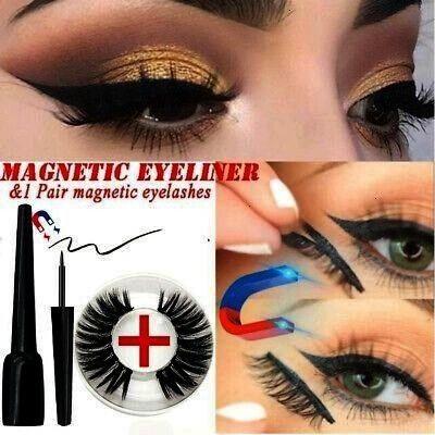 Magnets Eye Makeup Magnetic Liquid Eyeliner 3D False Eyelashes        Charming Five Magnets Eye Mak