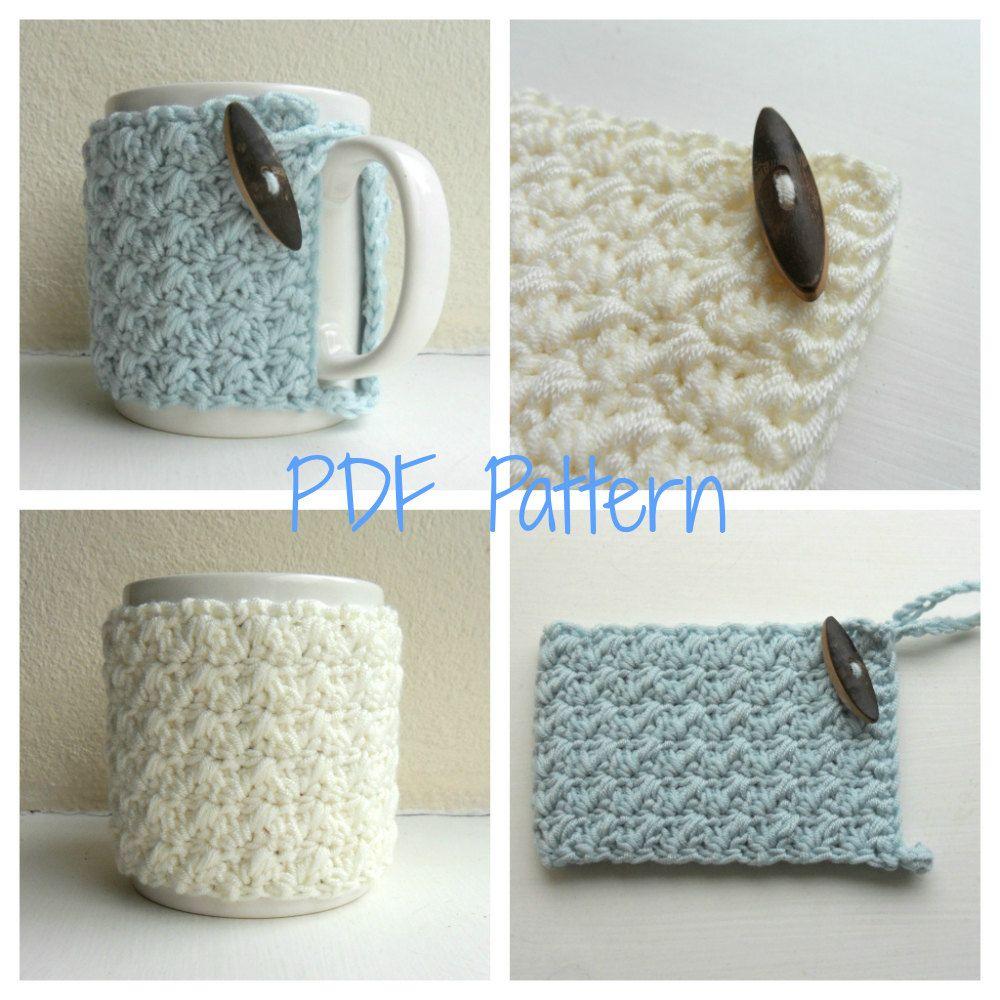 Mug Cozy Crochet Pattern - cup cozy - mug hug PDF | Tejido, Hilo y ...