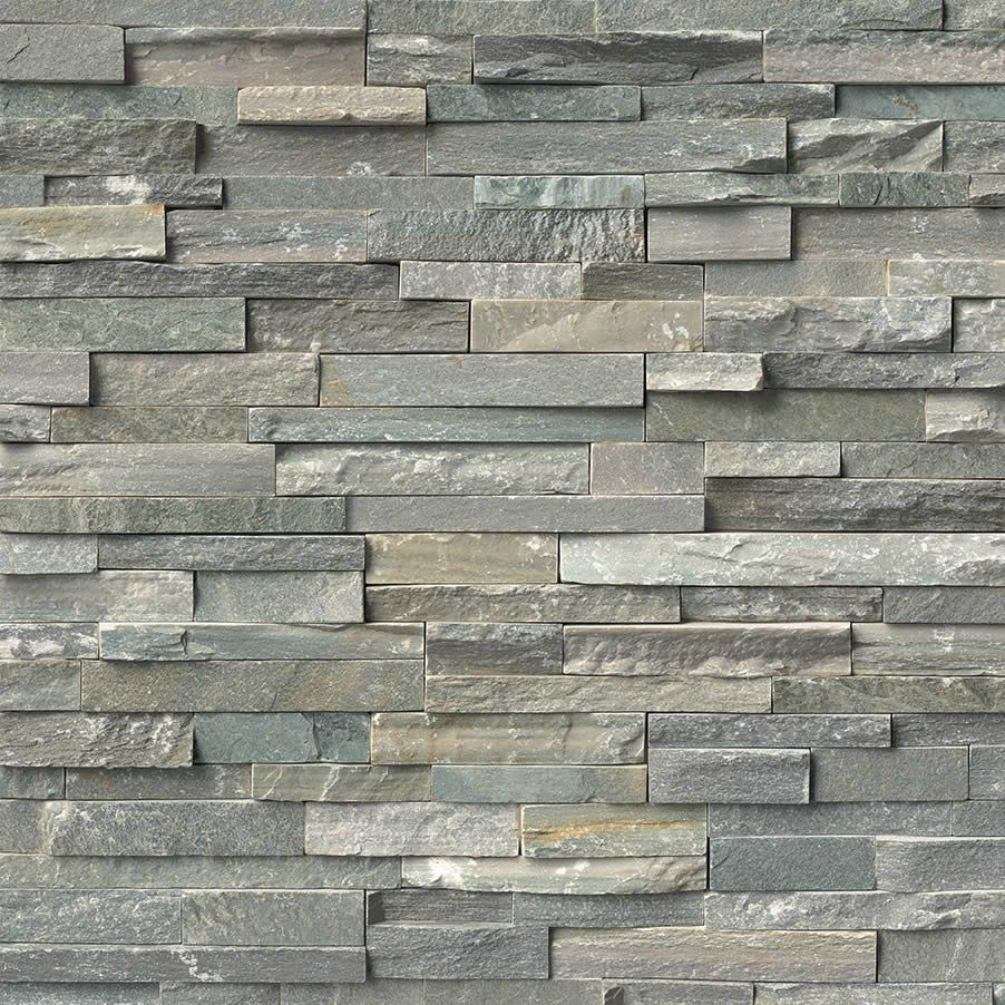 "Ledgestone Kitchen Backsplash: Ledgestone - Sierra Blue 6"" X 24"" Panel"