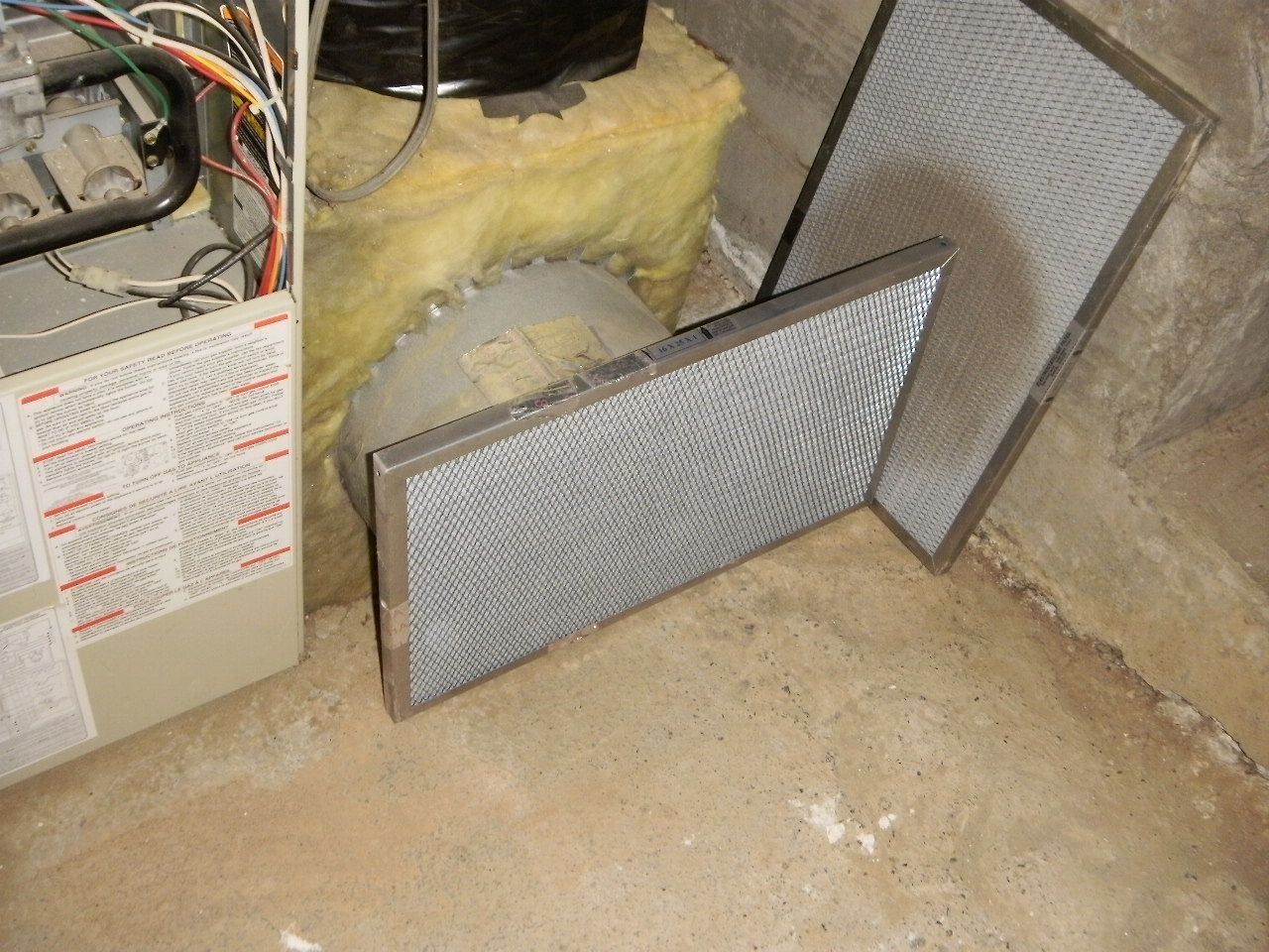 The return vent pulls air to be heated into your furnace