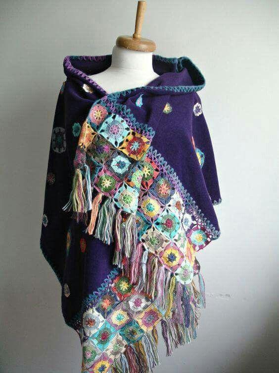 Pin de L F en *crochet/knit | Pinterest | Chal