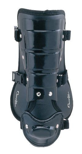Champion Sports Batter's Shinguard by Champion Sports. $10.65. The Champion Sports Batters Shin Guard protects you from wild pitches and grounders while up at bat. Universal for left handed batters, this leg guard features a 7.5in shin plate with ankle and foot protection. Three quick release buckles allow for easy removal. Protect yourself from painful impact while at bat with the Champion Sports Batters Leg Guard.