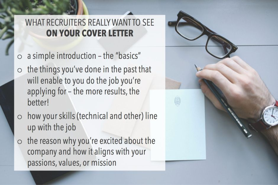 What recruiters really want to see on your cover letter - career change cover letter
