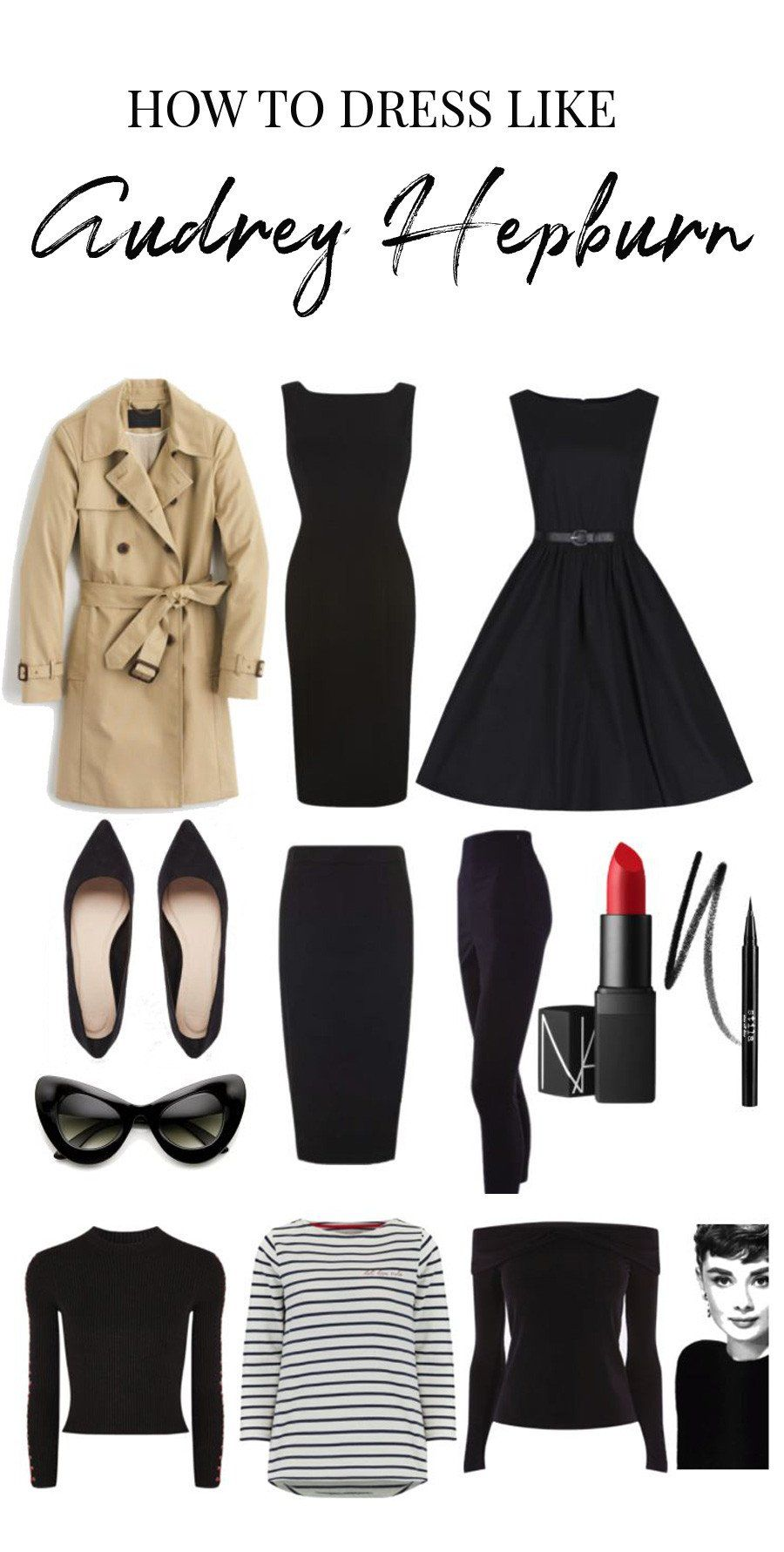 Audrey Hepburn Style Capsule Wardrobe How To Dress Like Audrey In 2020 Audrey Hepburn Style Outfits Fashion Capsule Hepburn Style